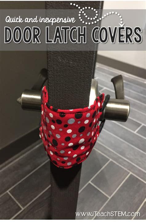 diy door latch covers iteachstem
