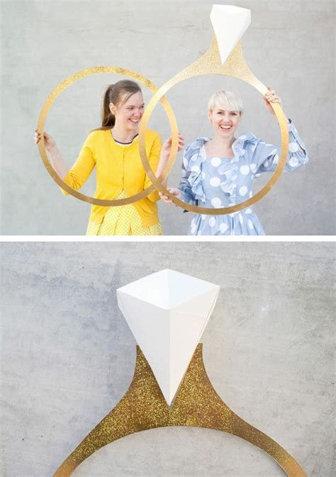 I feel like making this Giant ring photo prop *for pre