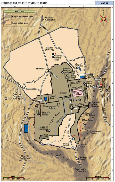 jerusalem   time  jesus map jesus reigns