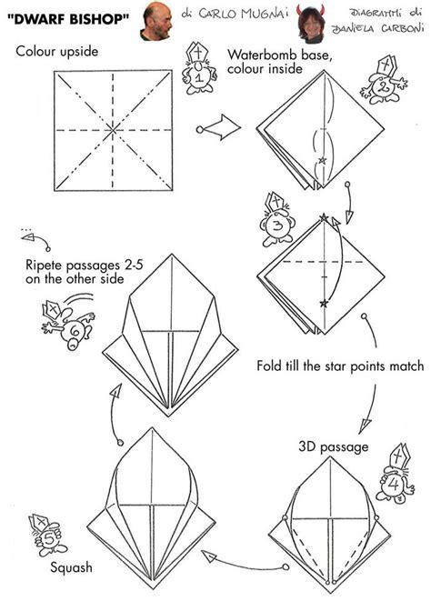 Origami Banger - origami bishop by carlo mugnai