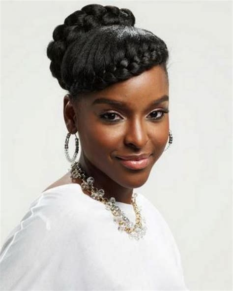 images of black braided bunstyle with bangs in back hairstyle stunning goddess braids styles goddess braids inspiration