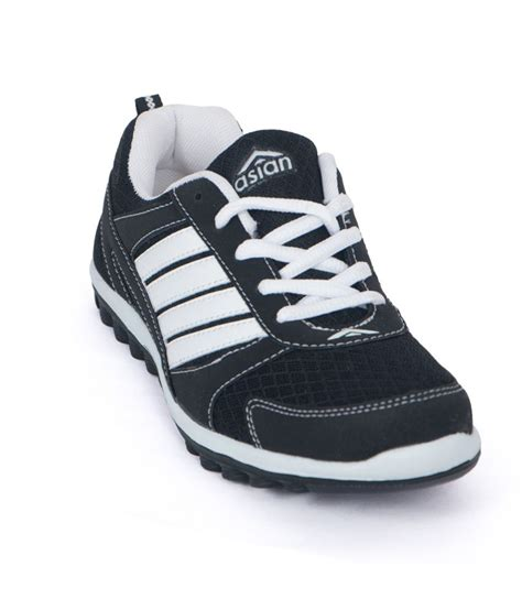 asian black sport shoes for price in india buy