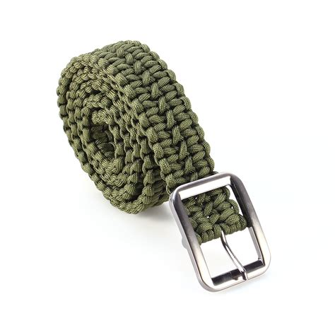 Ikat Pinggang Paracord New Belt Import outdoor emergency survival tactical paracord waist belt milspec utility cord ebay