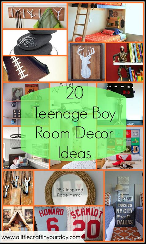 teenage bedroom decorating ideas 20 teenage boy room decor ideas a little craft in your day