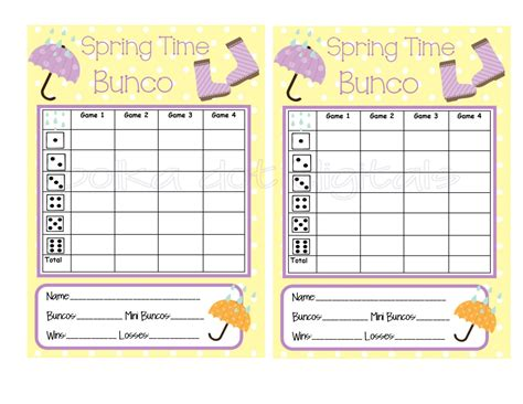 free bunco cards templates score bunco score sheet