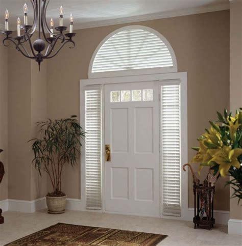 Front Door Window Shades Front Door Side Glass Window Coverings Products Gallery Columbian Blinds And Shutters