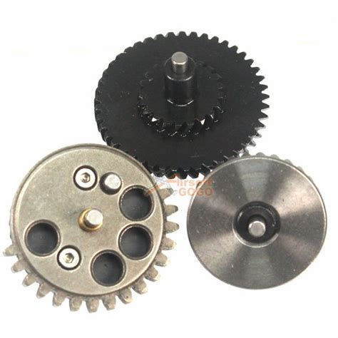 King Arms High Torque Helical Steel Gear Set For V2v3 Aeg shs guardian 100 300 reinforcement helical torque up gear airsoftgogo