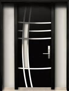 Modern Wood Door Modern Wood Door With Stainless Steel Design