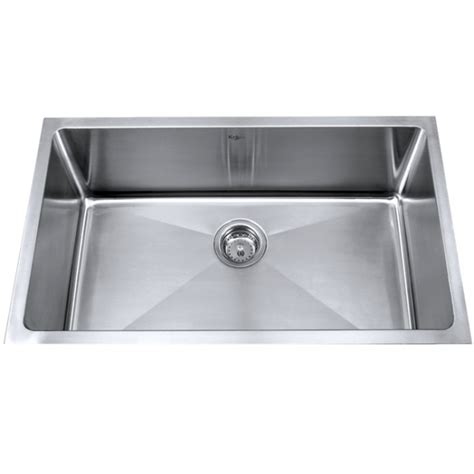undermount stainless steel kitchen sink kraus khu100 32 32 inch undermount single bowl 16
