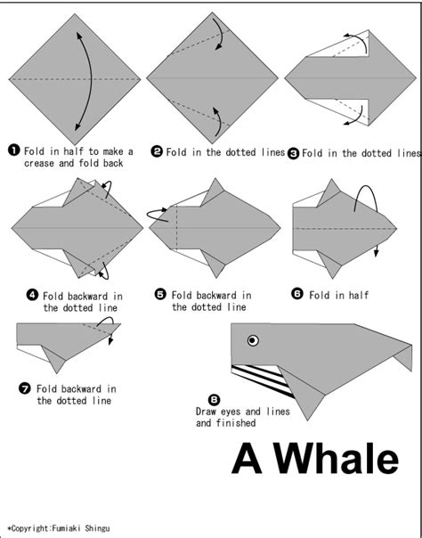 How To Make An Origami Whale - whale easy origami for