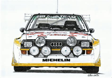Audi Quattro S1 Group B by Audi Quattro S1 Group B In Color Paper Garage By A