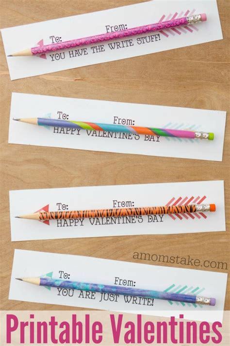 pencil arrows classroom valentines printable