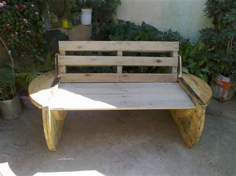 wire spool bench diy pallet projects to fresh up your house pallet wood