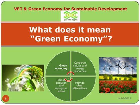 vet green economy for sustainable development