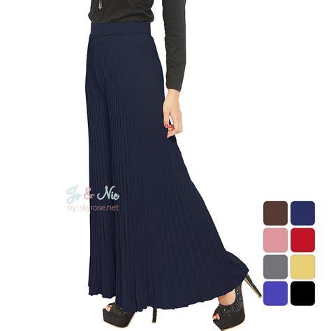 Kulot Lipit kulot lipit lebar celana wanita fit to big size 15 warna