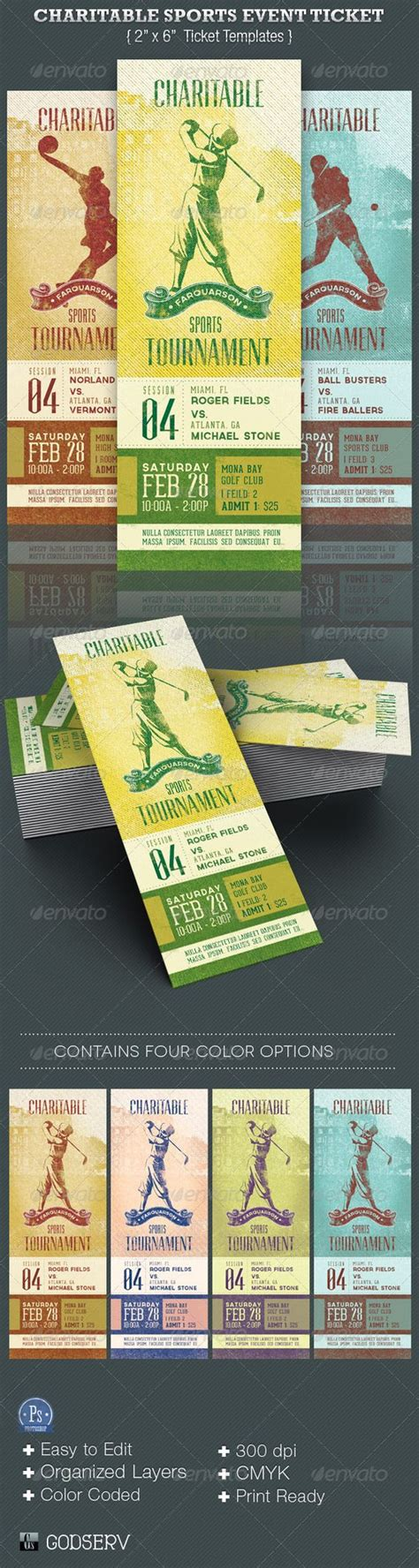 charitable sports event ticket template sports events
