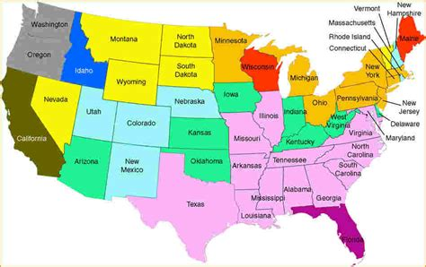 united states map with state names us map with states names