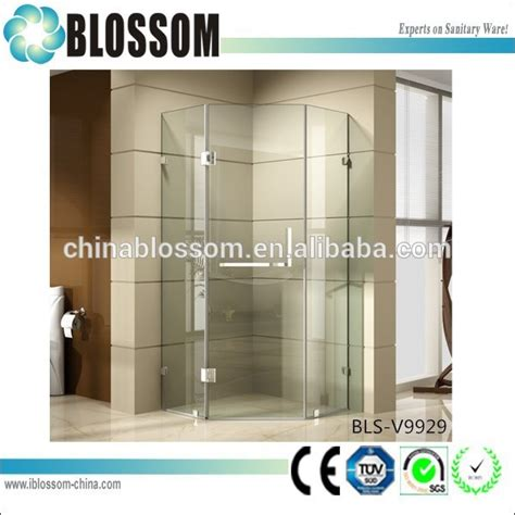 Hot Sell Self Cleaning Glass Pivot Door 3 Sided Frameless Best Product For Cleaning Glass Shower Doors