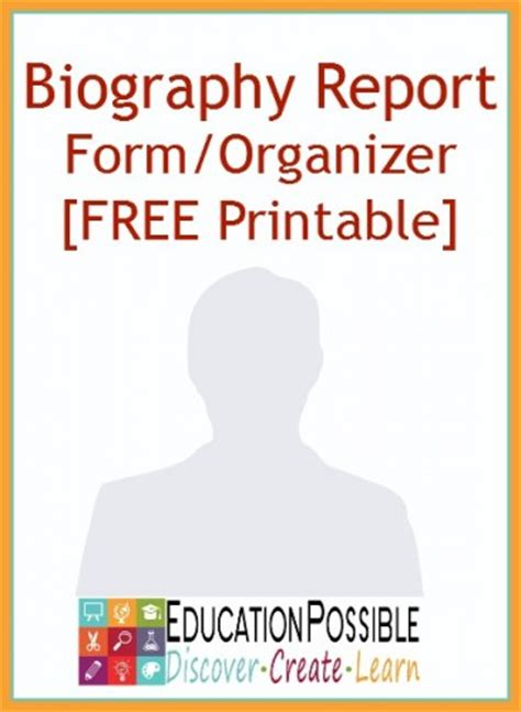 biography report form organizer biography report form template and organizer free