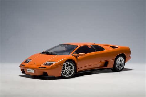 Autoart Lamborghini Autoart Lamborghini Diablo Vt 6 0 2000 Orange Diecast