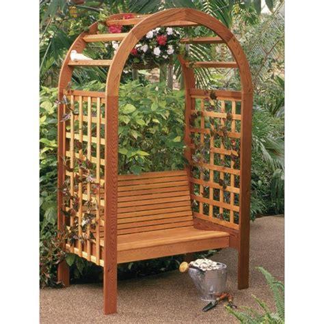garden arbor getaway woodworking plan from wood magazine garden arbor woodworking plan from wood magazine