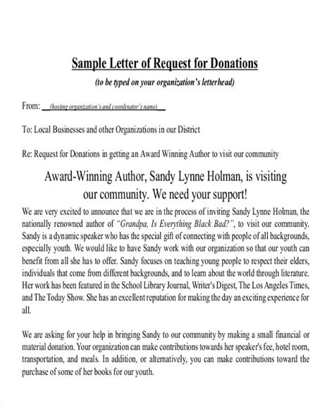 sle letter asking for donations from charity sle charity letter asking for donations 28 images