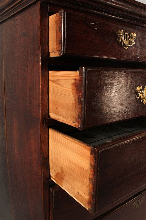 High Chest Of Drawers by Lot 328 George Iii Oak High Chest Of Drawers