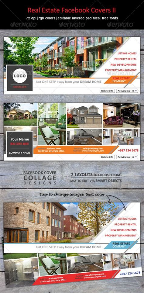 modern creative facebook timeline covers  real estate
