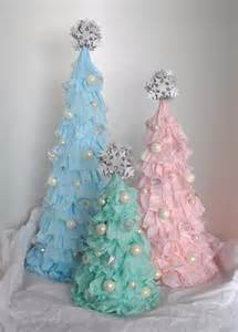 shabby chic ruffled christmas tree tickled pink at christmas pint