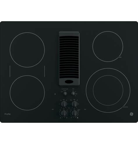 Downdraft Cooktops Ge Profile Series 30 Quot Downdraft Electric Cooktop Pp9830djbb Ge Appliances