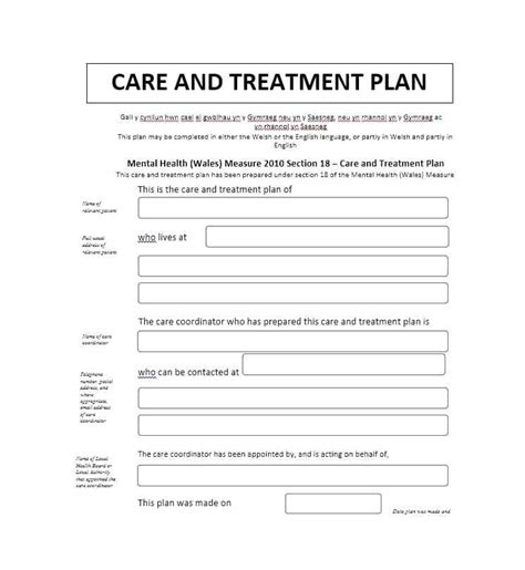 Mental Health Treatment Plan Template Format Azserver Info Mental Health Crisis Plan Template