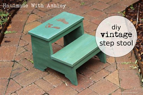 Easy Step Stool Plans by Diy Vintage Step Stool Plans By White Handmade