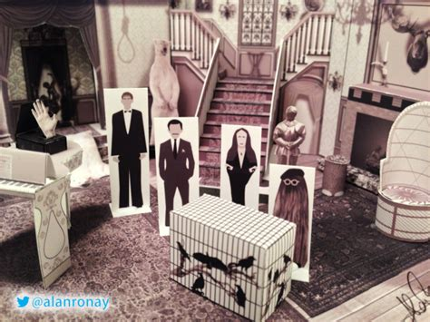 Adams And Company Decor A Papercraft Model Of The Interior Of The Addams Family
