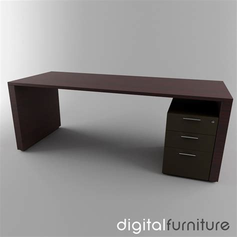 Desk 3d Model by 3d Model Office Desk