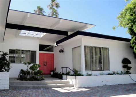 mid century modern homes exterior paint color home designs