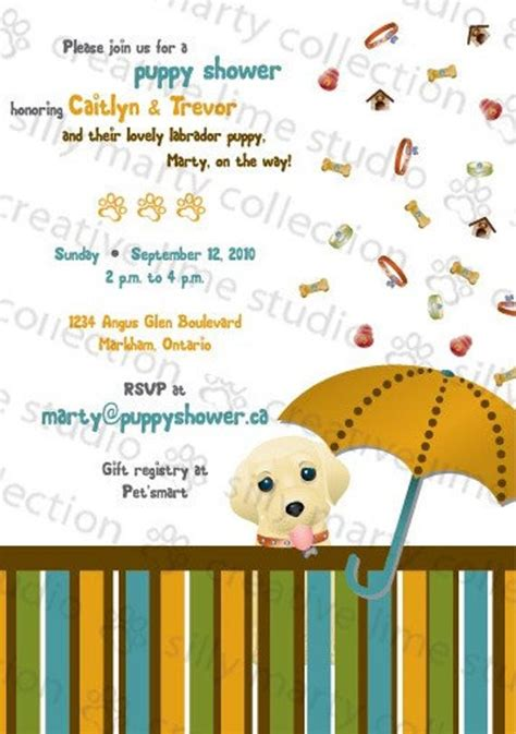 Items Similar To Custom Baby Or Puppy Shower Invitation Printable Template On Etsy Puppy Invitation Template