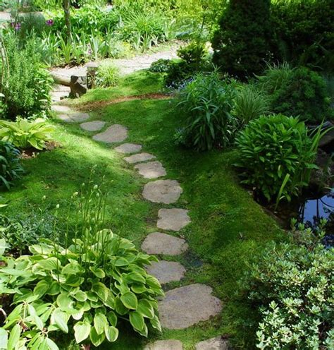 Patio Pavers With Moss In Between Pavers In Moss In A Garden 2