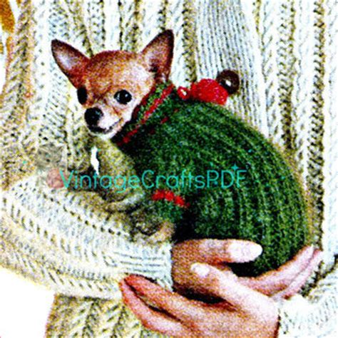 chihuahua sweater knitting pattern best vintage knitted jacket pattern products on wanelo
