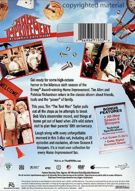 home improvement the complete sixth season dvd 1996