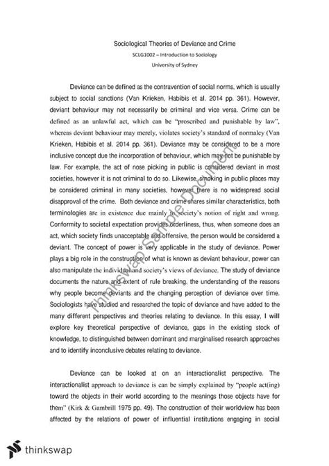 Sociological Perspective Essay by Sociological Perspective Essay
