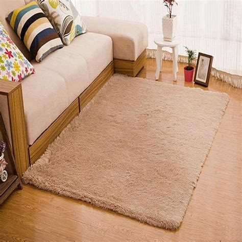Long Plush Area Rug Bedroom Rugs And Carpet Silky Room Mats