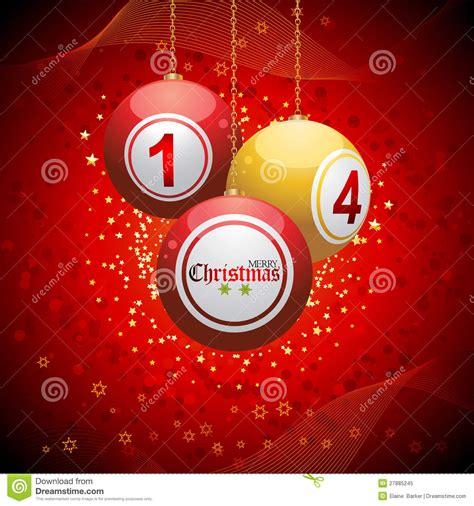 bingo ball christmas background red royalty  stock photo image