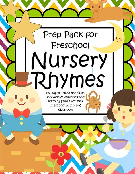 Kindergarten Themes Nursery Rhymes | nursery rhymes pack for preschool pre k 127 pgs