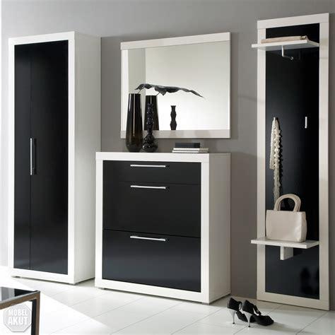 garderobe schwarz hochglanz garderoben set quot beco quot in wei 223 schwarz hochglanz