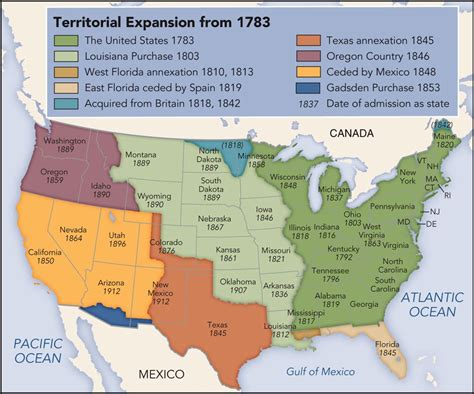 expansion of the united states map 100 us map 1845 us map 70 maps that explain america vox