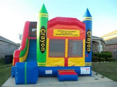 bounce house rental fort worth bounce house rentals fort worth and arlington crayon combo with slide youtube