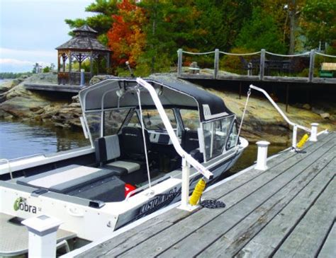wake boat supplies dock edge side mooring arms and wake watcher mooring