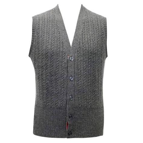 grey knit vest thom browne grey cable knit vest for sale at 1stdibs