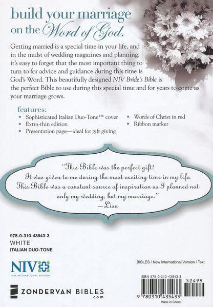 Wedding Bible Niv by Niv S Bible Italian Duo Tone White Ruby Apple