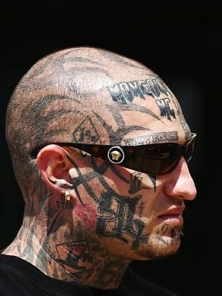 oregon tattoo laws former finks bikie grant gavin sports a freshly inked